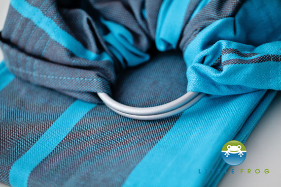 RING SLING LITTLE FROG - AQUAMARINE M (2m)  /2nd Grade