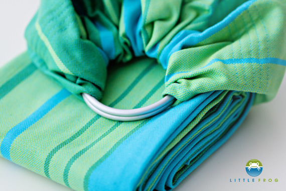 RING SLING LITTLE FROG - TURQUOISE M (2 m)