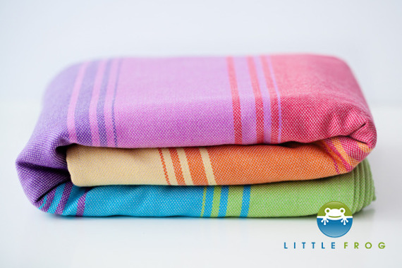 Woven wrap Little Frog - Sandy Agate II 4,6 m /2nd Quality