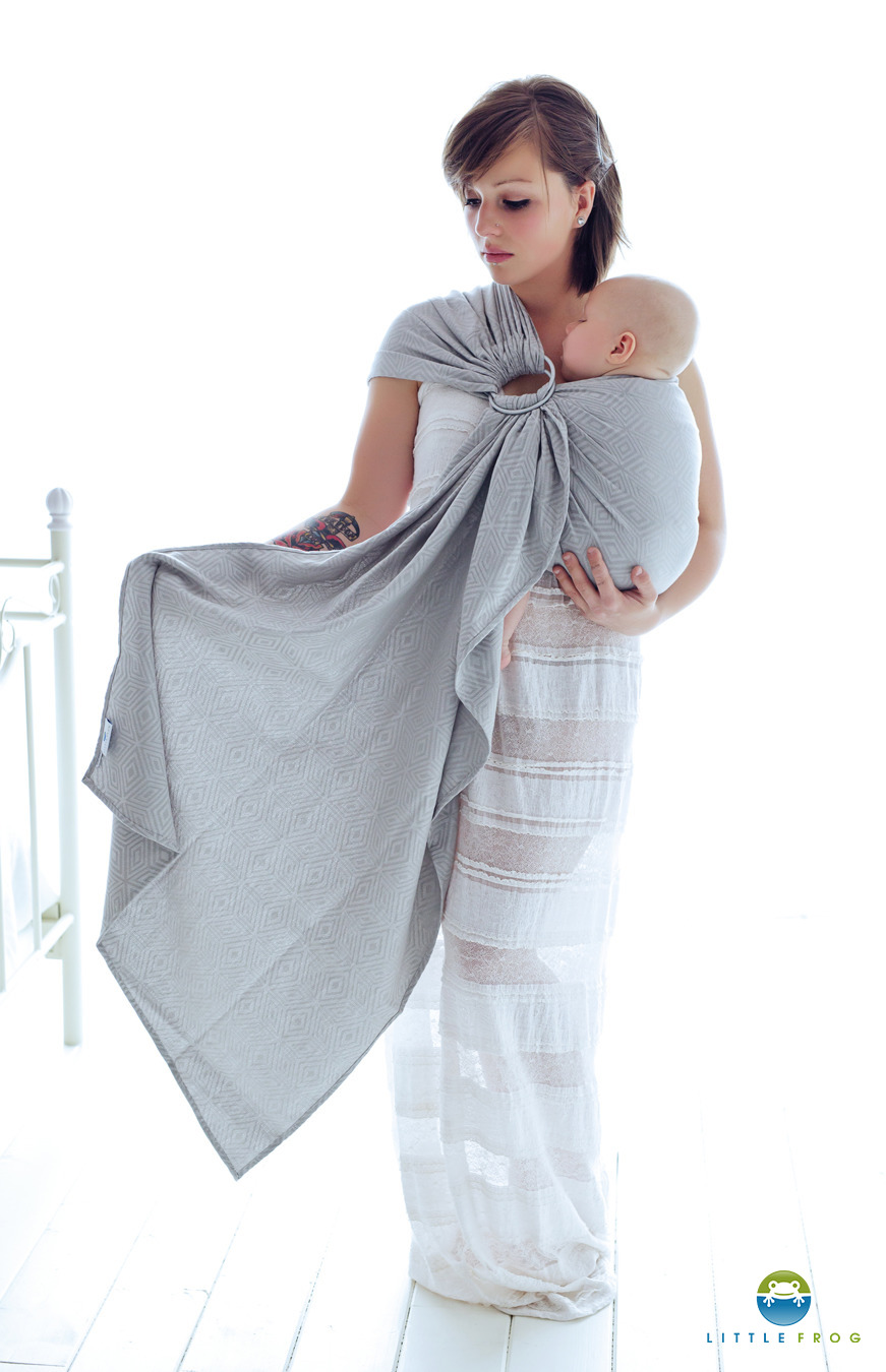 f6b6582e2a0 ... LITTLE FROG JACQUARD RING SLING - GREY CUBE -size M Click to zoom ...