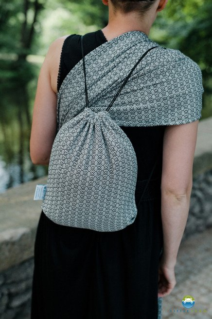 Drawstring Bag for wrap/sling -   Lovely Slate
