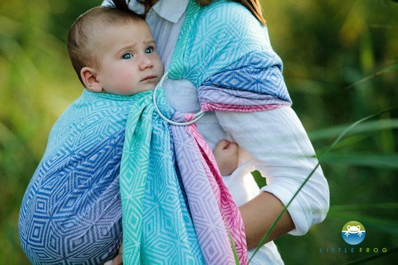 LITTLE FROG JACQUARD RING SLING -  AURORA CUBE -size S/ 2nd quality