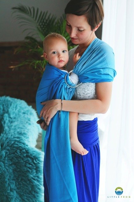 LITTLE FROG RING SLING - BLUE LAZURITE -size M/ 2nd grade