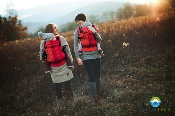 Little Frog Ergonomic Carrier - Carnelian 1