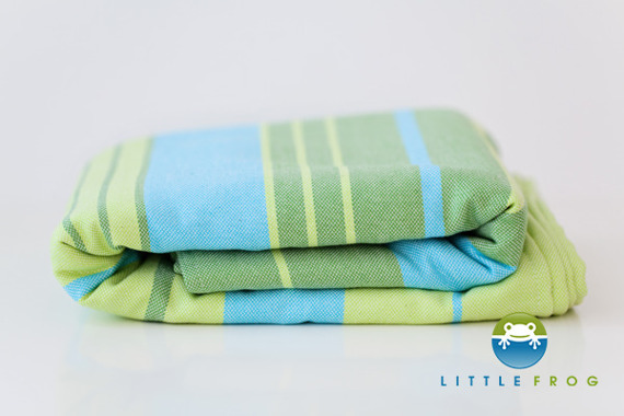 Little Frog Woven wrap - Bamboo Turquoise -size 8