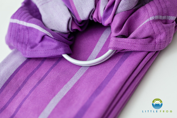 RING SLING LITTLE FROG - AMETHYST -size L / /2nd Grade