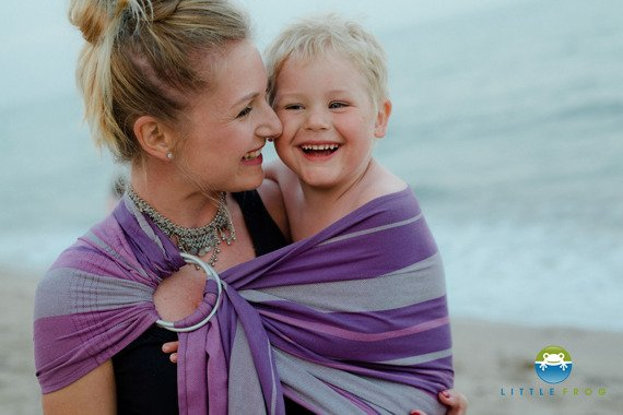 RING SLING LITTLE FROG - BAMBOO AMETHYST -size L