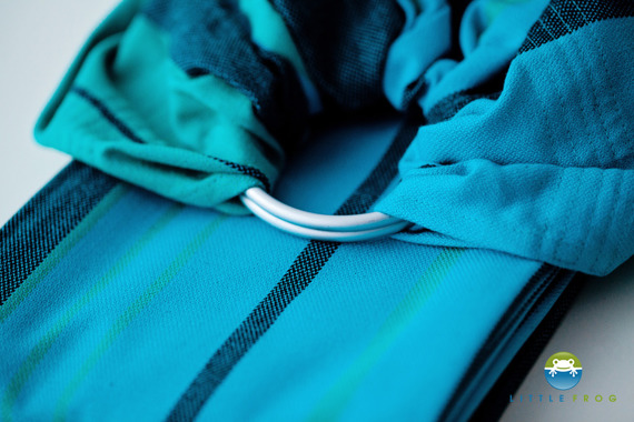 RING SLING LITTLE FROG - CHRYSOCOLLA -size M