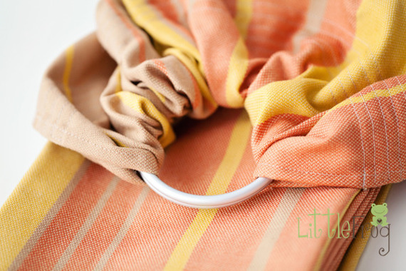 Ring Sling Little Frog with merino - Citrine L (2,3 m )