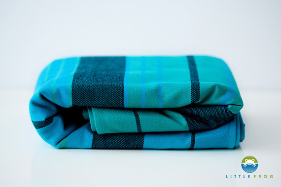 Woven wrap Little Frog - Chrysocolla -size 6