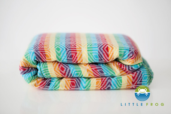 Little Frog jacquard wrap  - Rainbow Cube 5,2 m/ DEMO 2nd quality