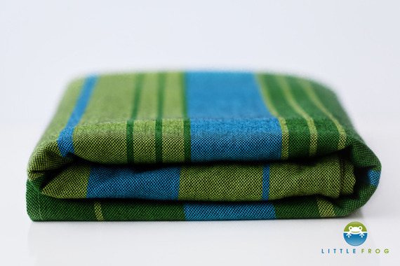 Woven wrap Little Frog - Azurite 4,6 m /2nd Quality