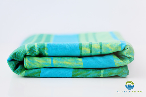 Woven wrap Little Frog - Turquoise 5,2 m